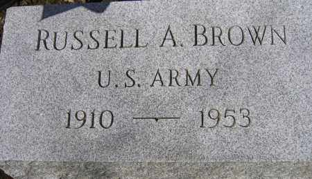 BROWN, RUSSELL A. - Fulton County, New York | RUSSELL A. BROWN - New York Gravestone Photos