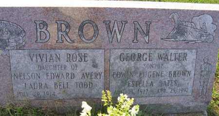 BROWN, VIVIAN ROSE - Fulton County, New York | VIVIAN ROSE BROWN - New York Gravestone Photos