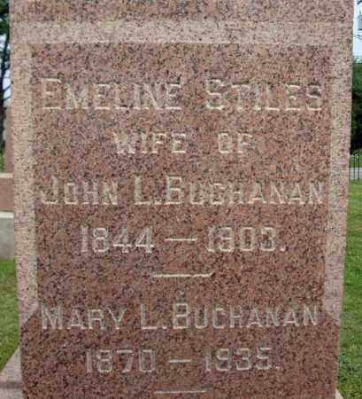BUCHANAN, EMELINE - Fulton County, New York | EMELINE BUCHANAN - New York Gravestone Photos