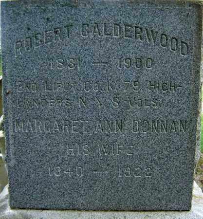 DONNAN CALDERWOOD, MARGARET ANN - Fulton County, New York | MARGARET ANN DONNAN CALDERWOOD - New York Gravestone Photos