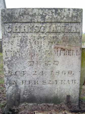 CAMPBELL, CHRISTIANNA - Fulton County, New York | CHRISTIANNA CAMPBELL - New York Gravestone Photos