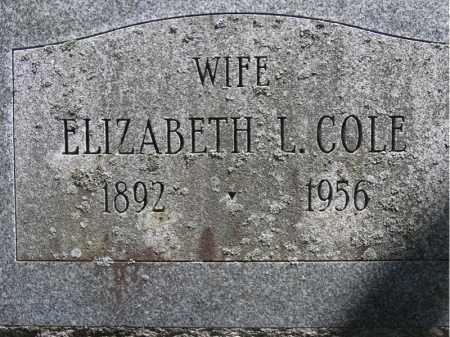 COLE, ELIZABETH L. - Fulton County, New York | ELIZABETH L. COLE - New York Gravestone Photos