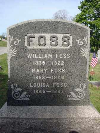 FOSS, MARY - Fulton County, New York   MARY FOSS - New York Gravestone Photos