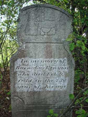 KENYON, BARNABUS - Fulton County, New York   BARNABUS KENYON - New York Gravestone Photos