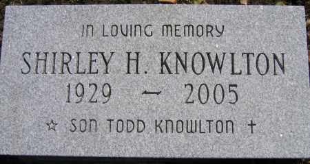 KNOWLTON, SHIRLEY H. - Fulton County, New York | SHIRLEY H. KNOWLTON - New York Gravestone Photos
