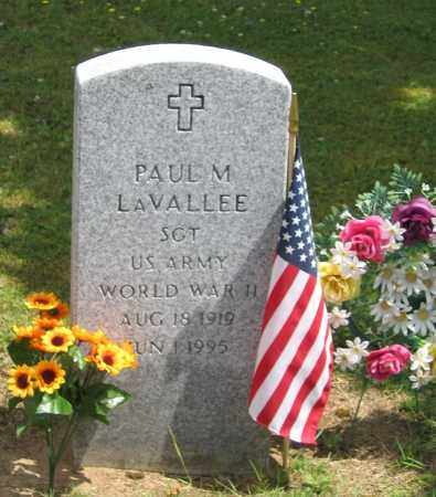 LAVALLEE (WWII), PAUL M. - Fulton County, New York | PAUL M. LAVALLEE (WWII) - New York Gravestone Photos