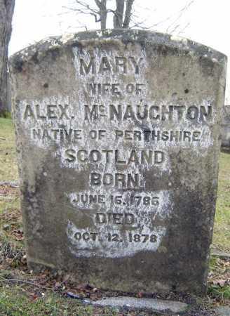 MCNAUGHTON, MARY - Fulton County, New York | MARY MCNAUGHTON - New York Gravestone Photos