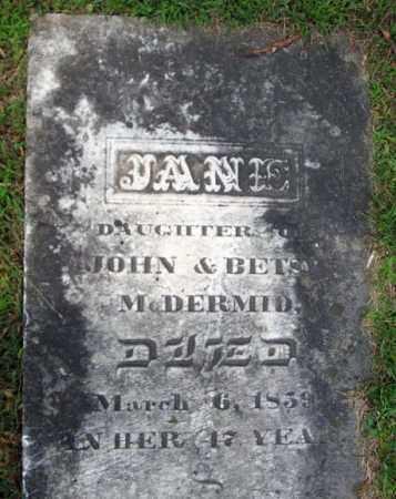MCDERMID, JANE - Fulton County, New York | JANE MCDERMID - New York Gravestone Photos