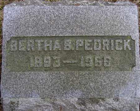 PEDRICK, BERTHA B. - Fulton County, New York   BERTHA B. PEDRICK - New York Gravestone Photos