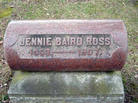 BAIRD ROSS, JENNIE - Fulton County, New York | JENNIE BAIRD ROSS - New York Gravestone Photos