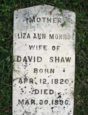 MONROE SHAW, ELIZA ANN - Fulton County, New York | ELIZA ANN MONROE SHAW - New York Gravestone Photos