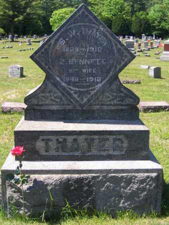 THAYER, ZILPHA - Fulton County, New York | ZILPHA THAYER - New York Gravestone Photos
