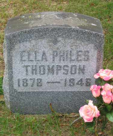 PHILES, ELLA - Fulton County, New York | ELLA PHILES - New York Gravestone Photos