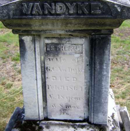 VANDYKE, ESTHER JANE - Fulton County, New York | ESTHER JANE VANDYKE - New York Gravestone Photos