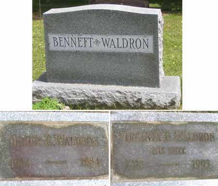 WALDRON, VIRGINIA B. - Fulton County, New York | VIRGINIA B. WALDRON - New York Gravestone Photos