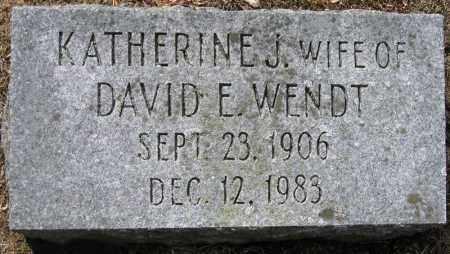 WENDT, KATHERINE J. - Fulton County, New York   KATHERINE J. WENDT - New York Gravestone Photos