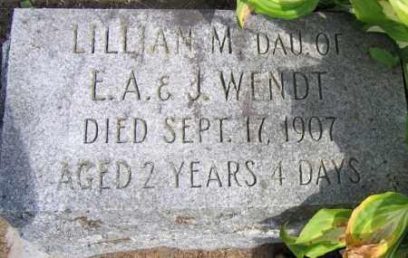 WENDT, LILLIAN M. - Fulton County, New York | LILLIAN M. WENDT - New York Gravestone Photos