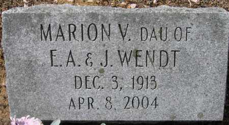 WENDT, MARION V. - Fulton County, New York | MARION V. WENDT - New York Gravestone Photos