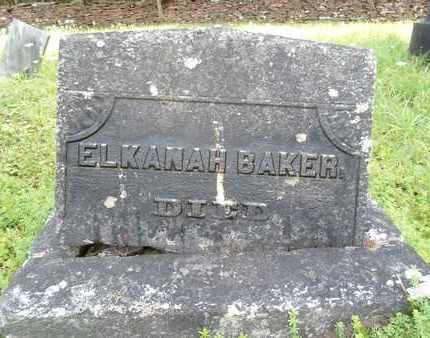 BAKER, ELKANAH - Greene County, New York | ELKANAH BAKER - New York Gravestone Photos