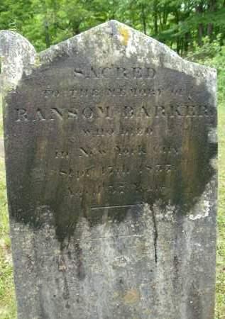 BARKER, RANSOM - Greene County, New York | RANSOM BARKER - New York Gravestone Photos