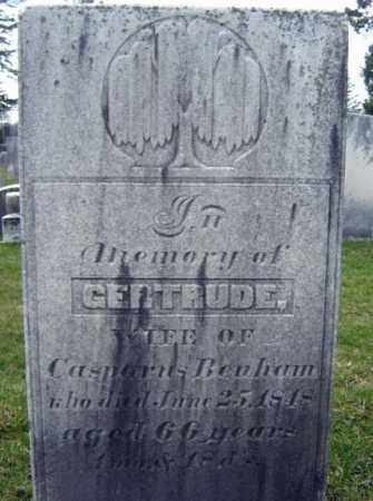 BENHAM, GERTRUDE - Greene County, New York   GERTRUDE BENHAM - New York Gravestone Photos