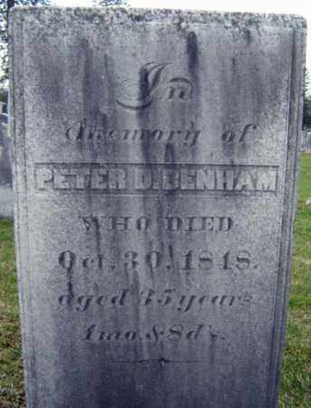 BENHAM, PETER D - Greene County, New York | PETER D BENHAM - New York Gravestone Photos