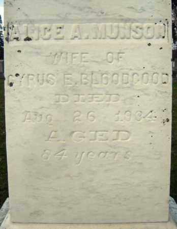 BLOODGOOD, ALICE A - Greene County, New York | ALICE A BLOODGOOD - New York Gravestone Photos