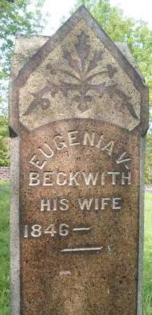 BECKWITH, EUGENIA V - Greene County, New York | EUGENIA V BECKWITH - New York Gravestone Photos