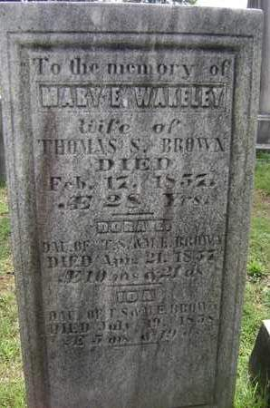 WAKELEY, MARY E - Greene County, New York | MARY E WAKELEY - New York Gravestone Photos