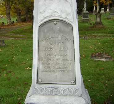 CALDER, WILLIAM DUNN - Greene County, New York | WILLIAM DUNN CALDER - New York Gravestone Photos