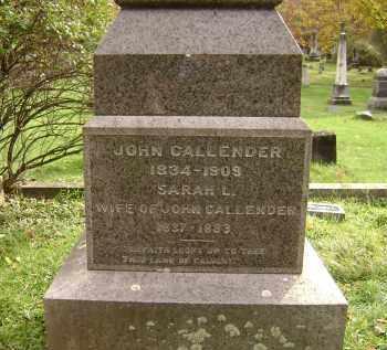 CALLENDER, JOHN - Greene County, New York | JOHN CALLENDER - New York Gravestone Photos