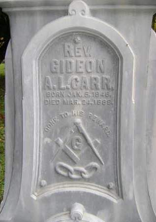 CARR, GIDEON A.L. - Greene County, New York | GIDEON A.L. CARR - New York Gravestone Photos