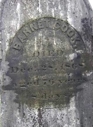 COOK, BARNET - Greene County, New York   BARNET COOK - New York Gravestone Photos