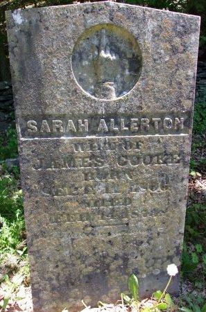 ALLERTON COOKE, SARAH - Greene County, New York   SARAH ALLERTON COOKE - New York Gravestone Photos