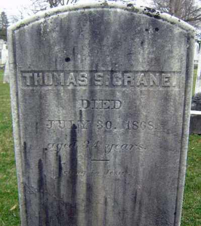 CRANE, THOMAS S - Greene County, New York | THOMAS S CRANE - New York Gravestone Photos