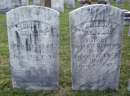 BENHAM, GARIEGHE - Greene County, New York | GARIEGHE BENHAM - New York Gravestone Photos