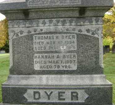 DYER, HANNAH A - Greene County, New York | HANNAH A DYER - New York Gravestone Photos