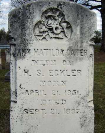 ECKLER, ANN MATILDA - Greene County, New York | ANN MATILDA ECKLER - New York Gravestone Photos
