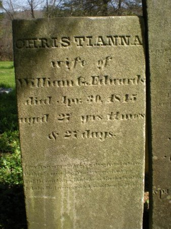 EDWARDS, CHRISTIANNA - Greene County, New York | CHRISTIANNA EDWARDS - New York Gravestone Photos