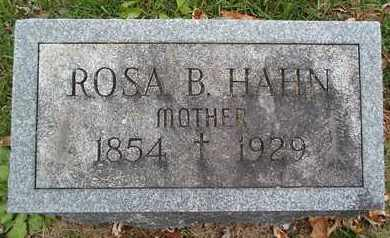 HAHN, ROSA B - Greene County, New York | ROSA B HAHN - New York Gravestone Photos