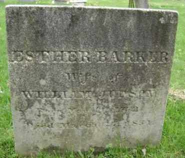 BARKER, ESTHER - Greene County, New York | ESTHER BARKER - New York Gravestone Photos