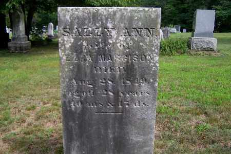 MARGISON, SALLY ANN - Greene County, New York | SALLY ANN MARGISON - New York Gravestone Photos