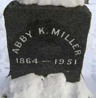 MILLER, ABBY K - Greene County, New York | ABBY K MILLER - New York Gravestone Photos