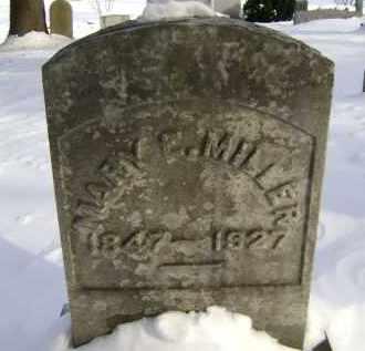 MILLER, MARY E - Greene County, New York | MARY E MILLER - New York Gravestone Photos