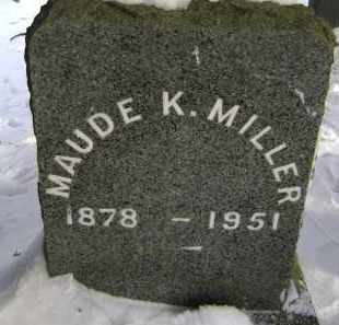 MILLER, MAUDE K - Greene County, New York | MAUDE K MILLER - New York Gravestone Photos