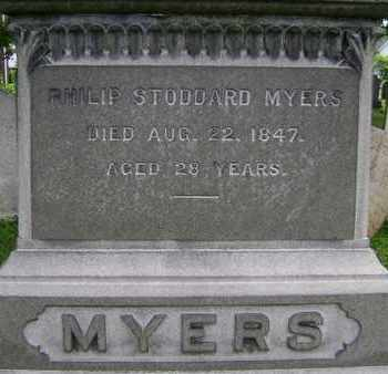 MYERS, PHILIP STODDARD - Greene County, New York | PHILIP STODDARD MYERS - New York Gravestone Photos