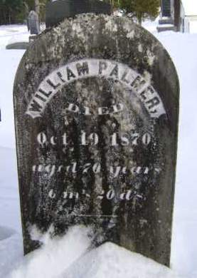 PALMER, WILLIAM - Greene County, New York | WILLIAM PALMER - New York Gravestone Photos