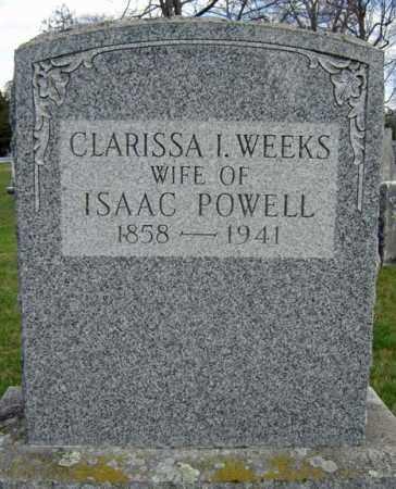 WEEKS, CLARISSA I - Greene County, New York | CLARISSA I WEEKS - New York Gravestone Photos