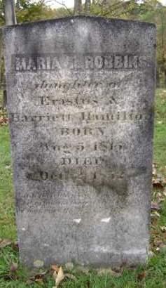 HAMILTON ROBBINS, MARIA T - Greene County, New York | MARIA T HAMILTON ROBBINS - New York Gravestone Photos