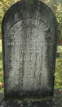 WELLS SANFORD, SARAH W - Greene County, New York | SARAH W WELLS SANFORD - New York Gravestone Photos